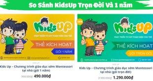 2. So sánh gói KidsUp trọn đời và KidsUp gói 1 năm