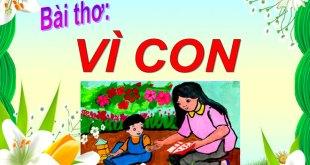 Bài Thơ Vì Con Mầm Non - Nội Dung Chi Tiết Và Giáo Án Tham Khảo