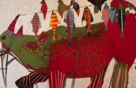 Giagnacovo, senza titolo, 2014, cm 150x223, mista su carta intelata