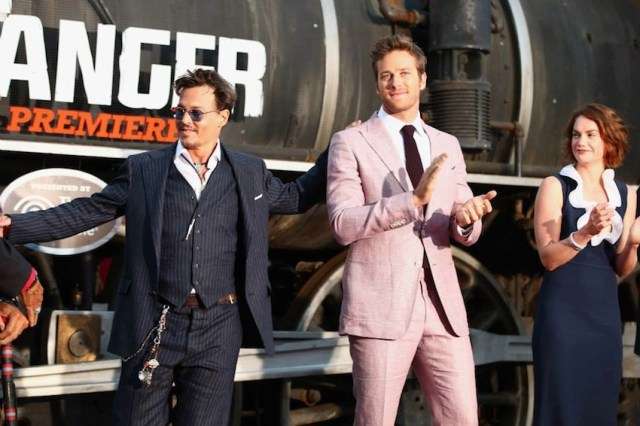 Johnny Depp e Armie Hammer alla prima americana