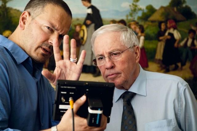 Christoph Blocher (a destra) con il regista Jean-Stéphane Broch.