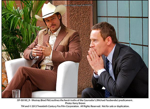 MIchael Fassbender e Brad Pitt in 'The Counselor'