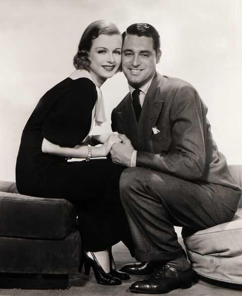 Joan Bennett e Cary Grant in una foto di lancio del film