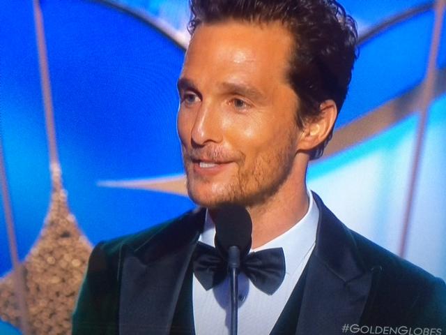 Matthe McConaughey, Golden Globe come migliore attore categoria 'drama' per Dallas Buyers Club.