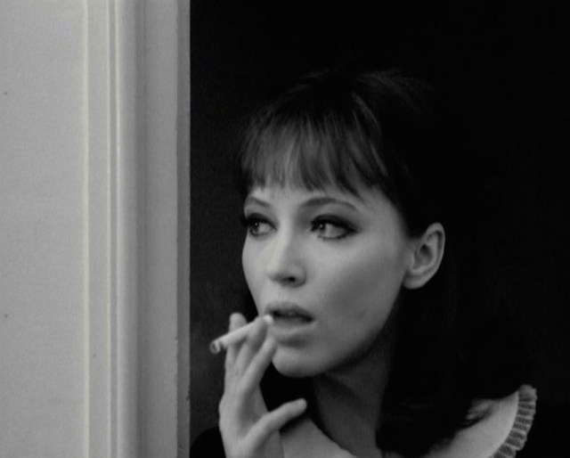 Anna Karina in 'Agente Lemmy Caution, missione Alphaville' di Jean-Luc Goidard, 1965.