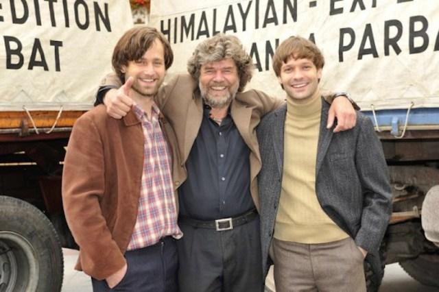 Messner con i due attori