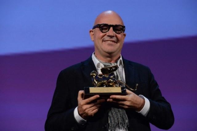 Gianfranco Rosi a Venezia 2013 con il Leone d'oro