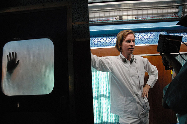 Wes Anderson sul set