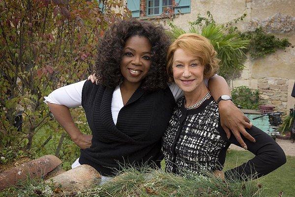 Helen Mirren con Oprah Winfrey, co-produttrice del film