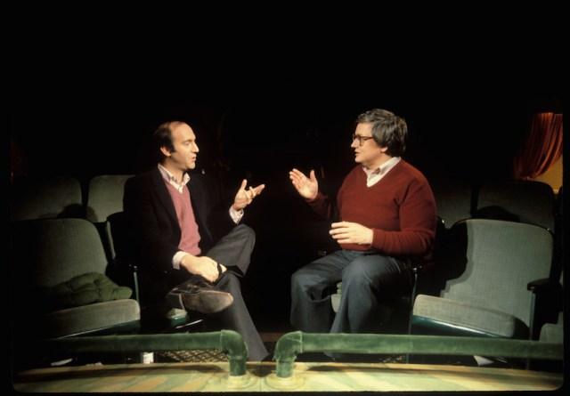 Ebert con Gene Siskel in una delle loro trasmissioni tv