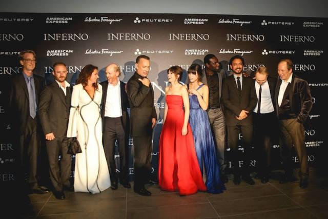 Il regista Ron Hoeard, Tom Hanks e tutto il cast a Firenze alla prima mondiale del film