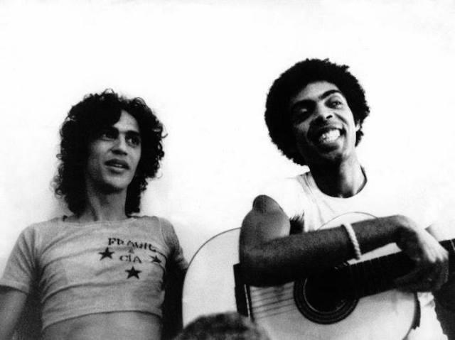 da sin., Caetano Veloso e Gilberto Gil