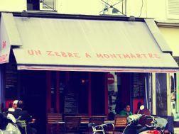 una zebra a Montmartre