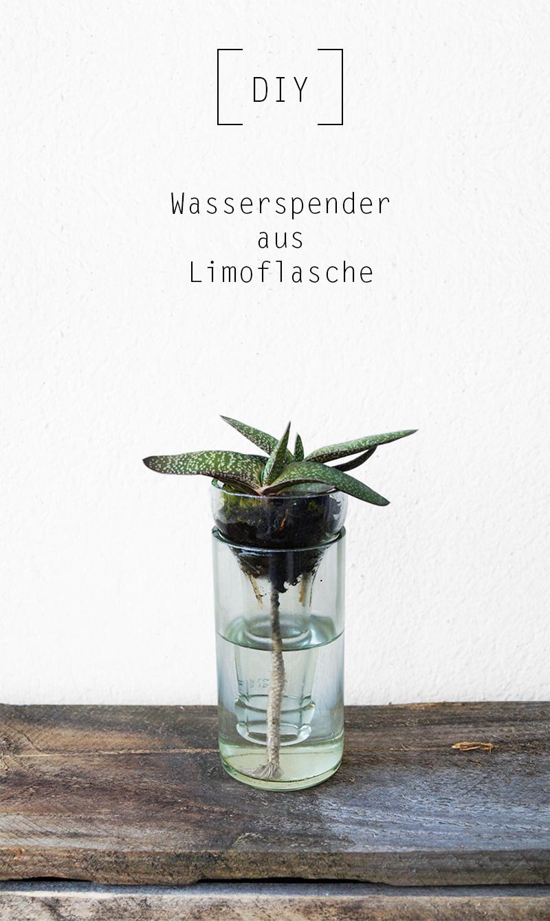 Wasserspender aus Limoflasche by Nur noch