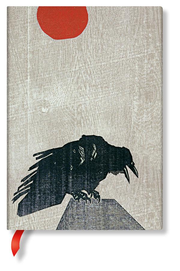 Paperblanks®_Alistair-Bell---Krähne-mit-Roter-Sonne---Midi-130x180mm---16,95-Euro