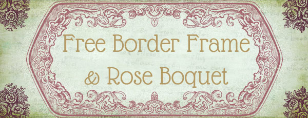 free_vintage_frame_and_roses_clipart_vector_custom_shapes