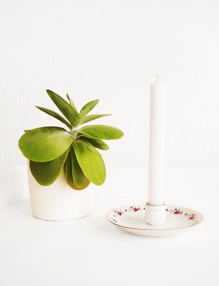 Kerzenhalter mit Untertasse basteln by Nur noch - DIY Anleitung 3