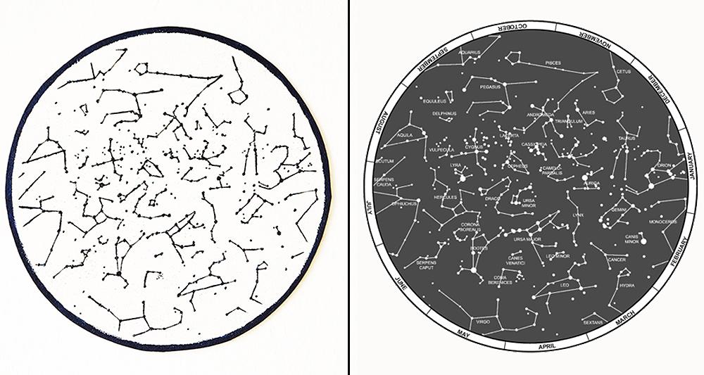 Umgekehrte Sternenbilder auf Kork by Nur noch