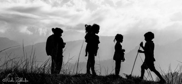 Children at dhumpus (nepal)
