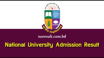 National University Admission Result