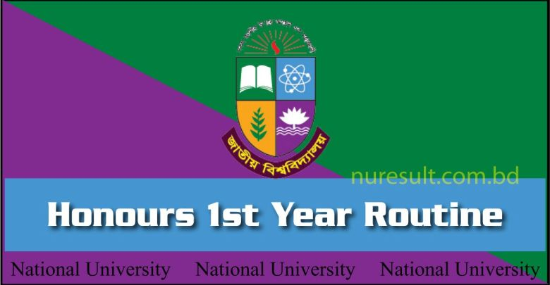 NU Honours 1st year routine