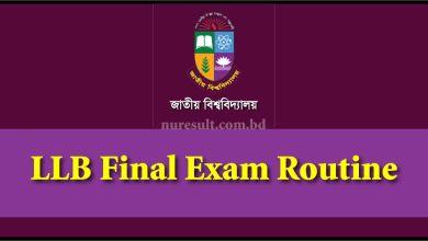 LLB Final Exam Routine