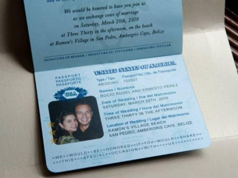 Contoh Undangan Pernikahan Berbentuk Paspor