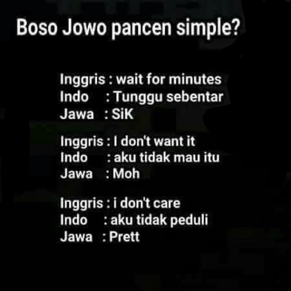 Gambar Kata Kata Lucu Bahasa Inggris Jawa