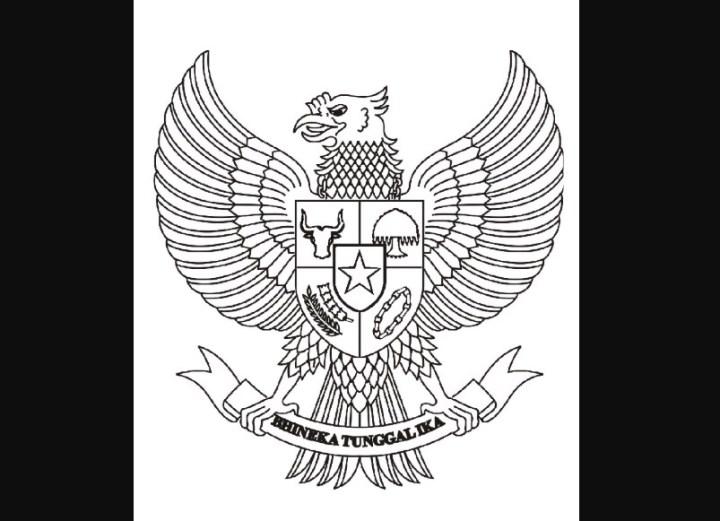 Sketsa Burung Garuda.
