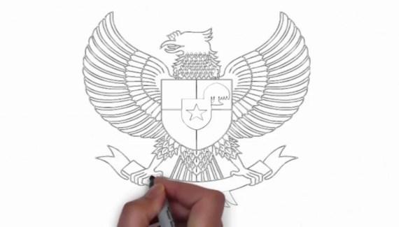 Cara Menggambar Burung Garuda