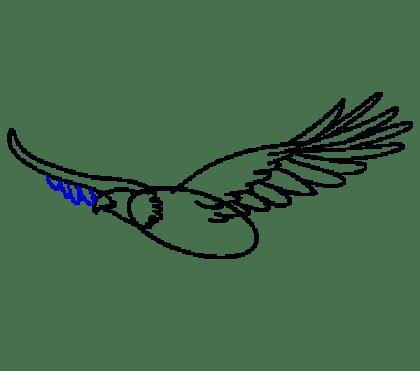 Cara Menggambar Garuda: Langkah 10