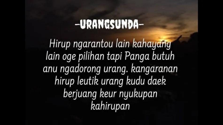 333 Kata Mutiara Bahasa Sunda Kahirupan Asli Bikin Semangat