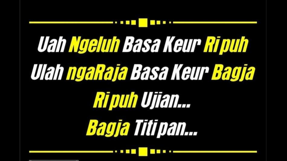 Kata Kata Hidup Sederhana Bahasa Sunda