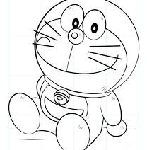 Sketsa Doraemon Keren