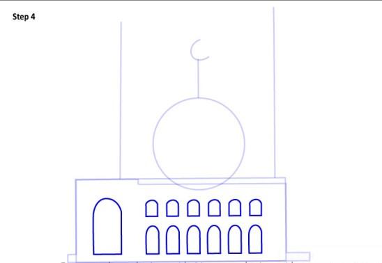Cara Menggambar Sketsa Masjid