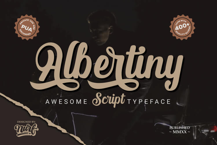 Preview image of Albertiny – Awesome Script Typeface