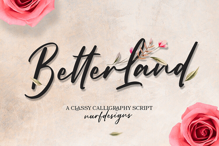 Better Land - Classy Calligraphy Script