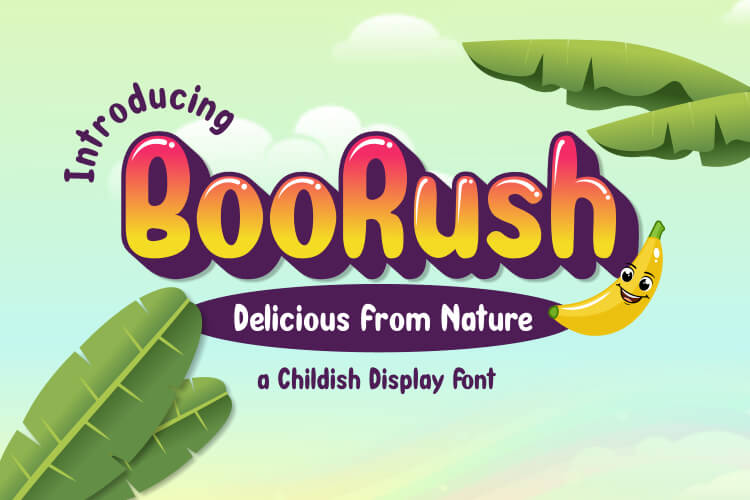 BooRush - Childish Display Font