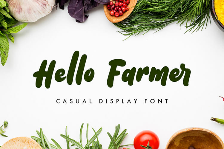 Preview image of Hello Farmer – Casual Display Font