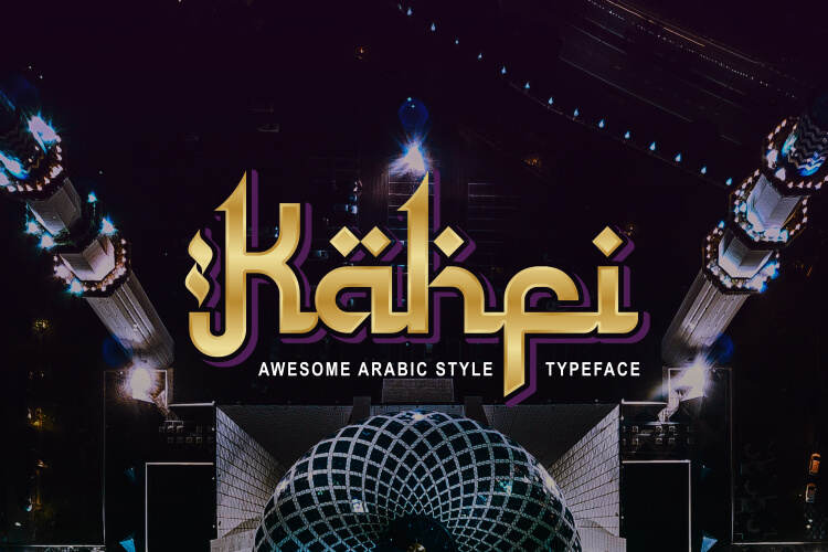 Preview image of Kahfi – Awesome Arabic Style Typeface