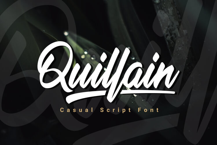 Preview image of Quillain – Casual Script Font