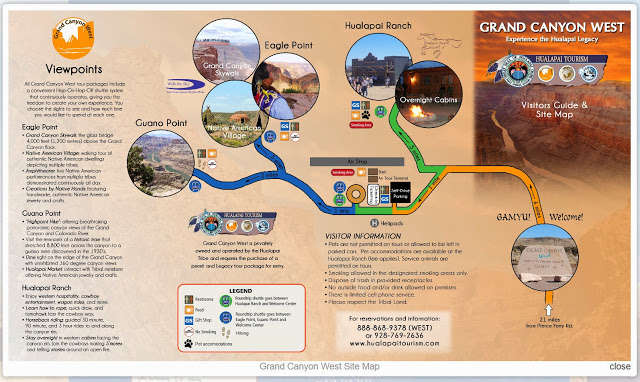 Mapa West Rim Gran Cañon