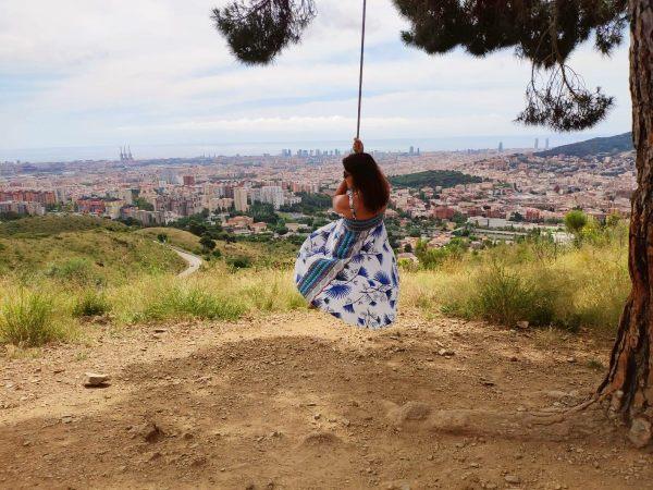 columpio barcelona mirador horta