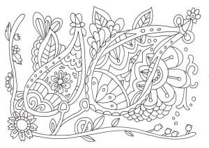 アラビア模様の塗り絵