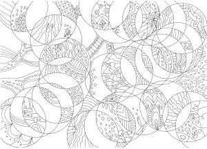 円の構成の塗り絵