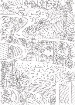 流水紋の塗り絵