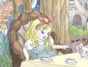 アリスの塗り絵の部分図