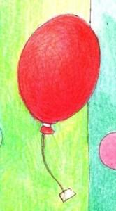 風船の塗り絵