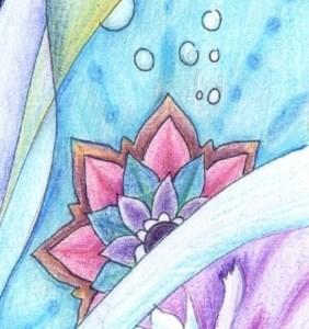 花の塗り絵の見本