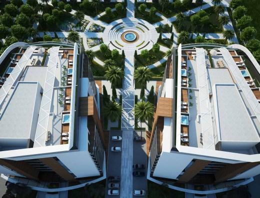 aerial view park bar